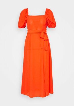 PLAIN TIE BELT - Day dress - orange