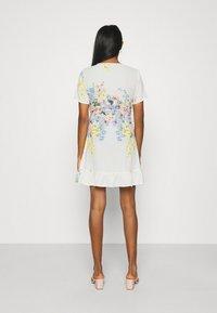ONLY - ONLALMA LIFE WRAP DRESS - Day dress - cloud dancer/summer botanic - 2