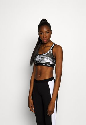 MID CROSSBACK BRA - Medium support sports bra - black