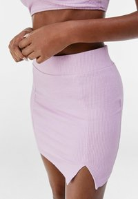 Bershka - Mini skirt - mauve