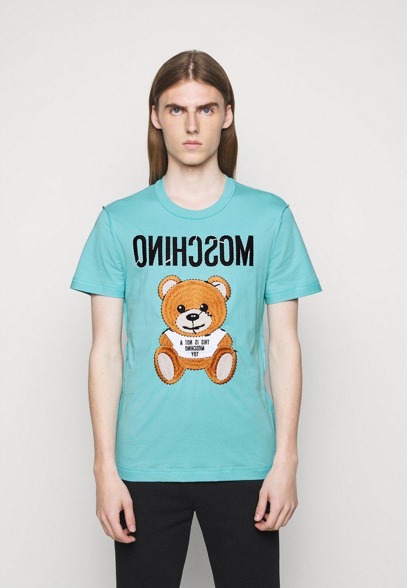 MOSCHINO - Print T-shirt - light blue