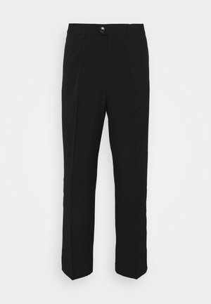 CONRAD WIDE TROUSERS - Kangashousut - black