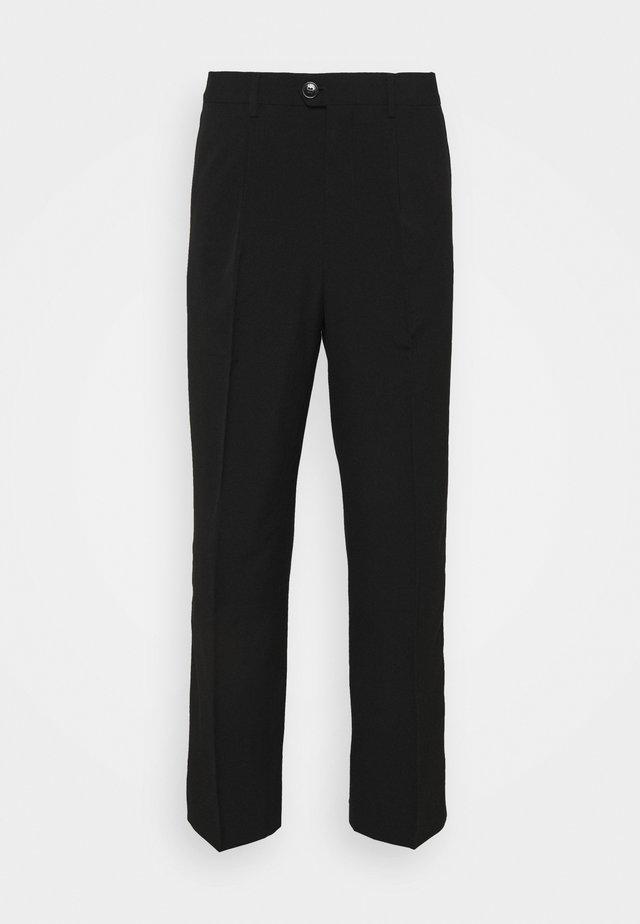 CONRAD WIDE TROUSERS - Kalhoty - black