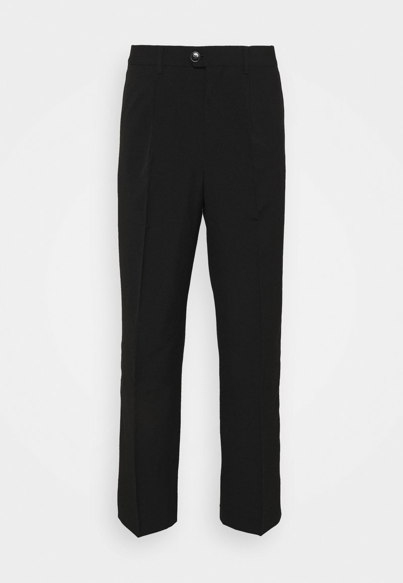 Weekday - CONRAD WIDE TROUSERS - Kangashousut - black