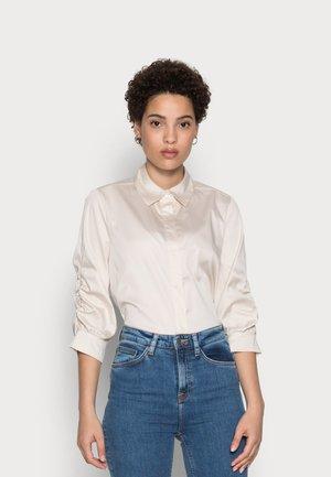 FAUSI - Button-down blouse - pebble stone