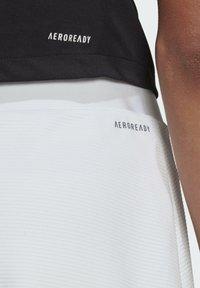 adidas Performance - CLUB SKIRT - Gonna sportivo - white/grey two - 3