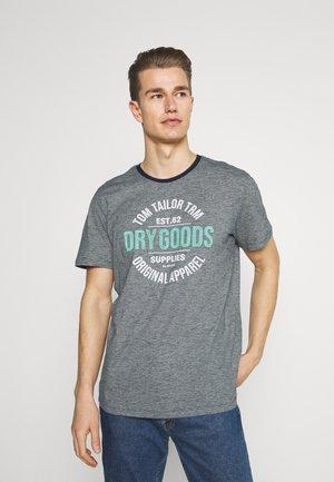 FINESTRIPED - Print T-shirt - dark blue