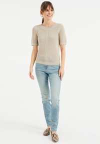 WE Fashion - Printtipaita - beige - 1