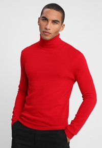 Benetton - BASIC ROLL NECK - Svetr - red - 0