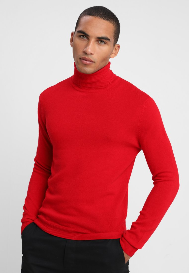 Benetton - BASIC ROLL NECK - Svetr - red