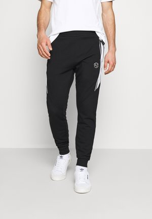MARINO INTERLOCK JOGGER - Tracksuit bottoms - black