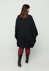 Zizzi - EINFARBIGES MIT STRUKTUR - Day dress - black - 2