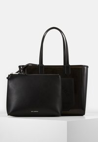 KARL LAGERFELD - JOURNEY TRANSPARENT TOTE - Handbag - black - 3