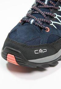 CMP - RIGEL LOW TREKKING SHOE WP - Hiking shoes - blue/giada/peach - 6