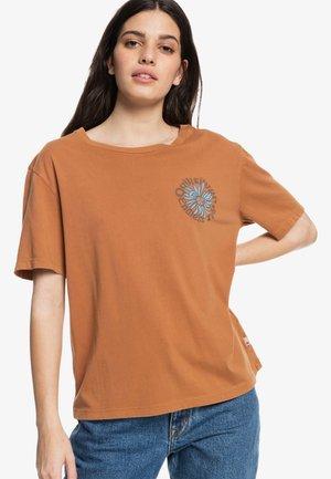 MEMORY BLOOM STANDARD  - Print T-shirt - clay
