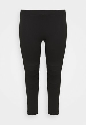 PONTE STITCH - Leggings - Trousers - black