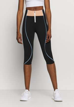 CROSS OVER LEGGING - 3/4 sports trousers - black