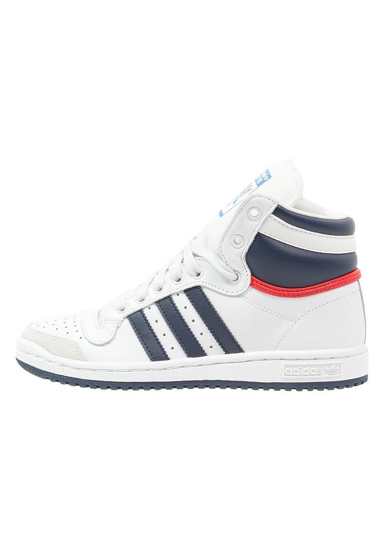 adidas Originals TOP TEN - Baskets montantes - neo white/new navy ...