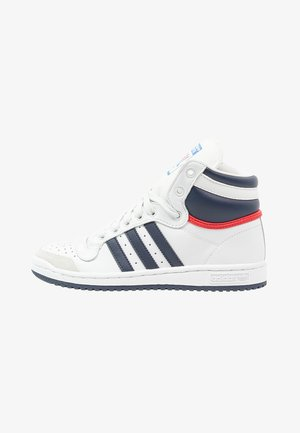 TOP TEN  - Sneakersy wysokie - neo white/new navy/collegiate red