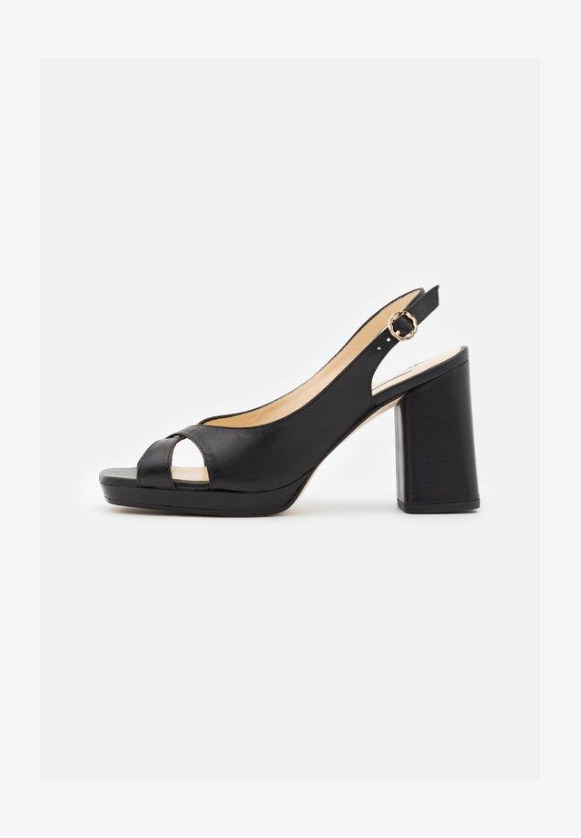 PIKI - High heeled sandals - noir