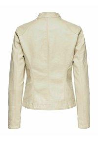 ONLY - ONLBANDIT BIKER - Faux leather jacket - pumice stone - 1