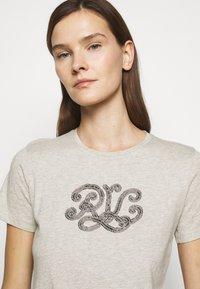 Lauren Ralph Lauren - Print T-shirt - farro heather - 3