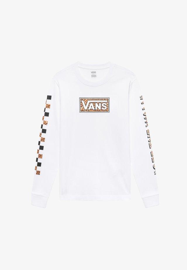 LEOPARD - Pitkähihainen paita - white