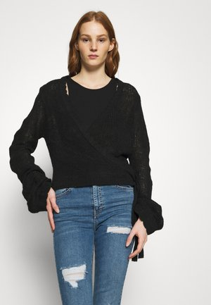 OVERLAP - Cardigan - black