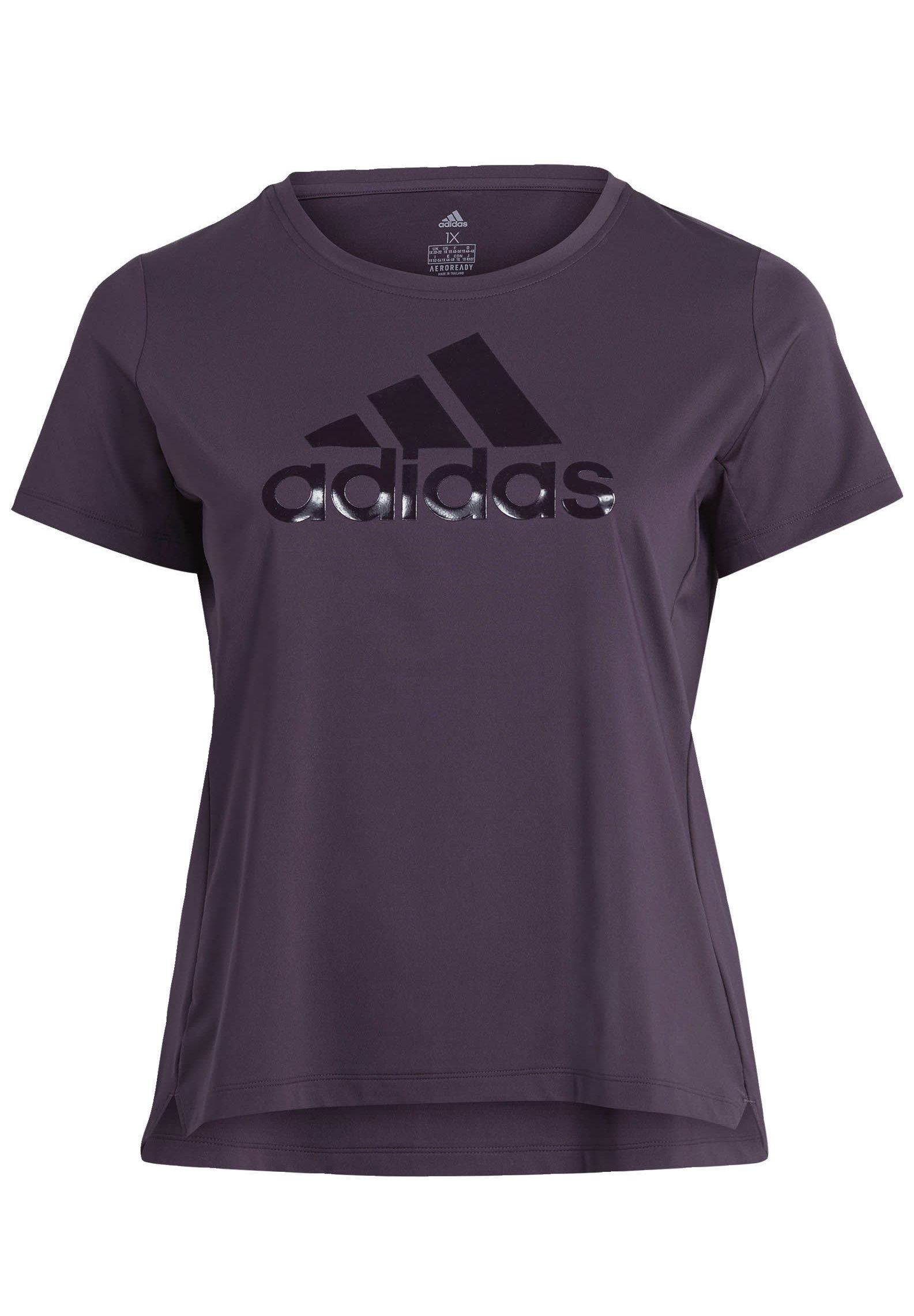 adidas Performance GLAM ON BADGE OF SPORT LOGO T-SHIRT (PLUS SIZE) - Print T-shirt - purple ICB1H