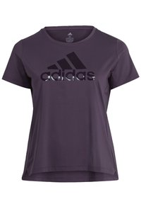 adidas Performance - GLAM ON BADGE OF SPORT LOGO T-SHIRT (PLUS SIZE) - Camiseta estampada - purple - 8