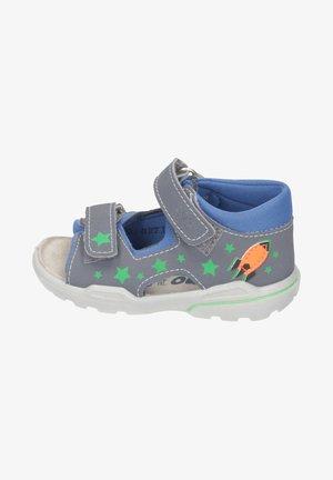 FRANKY - Walking sandals - graphit/azur