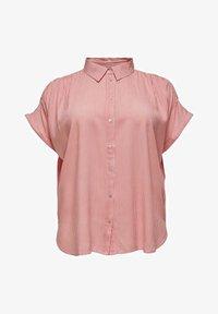 ONLY Carmakoma - CARMAROK LIFE - Button-down blouse - cloud dancer/tea rose - 0
