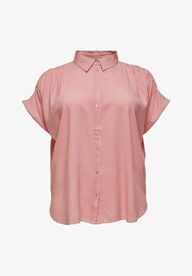 CARMAROK LIFE - Button-down blouse - cloud dancer/tea rose