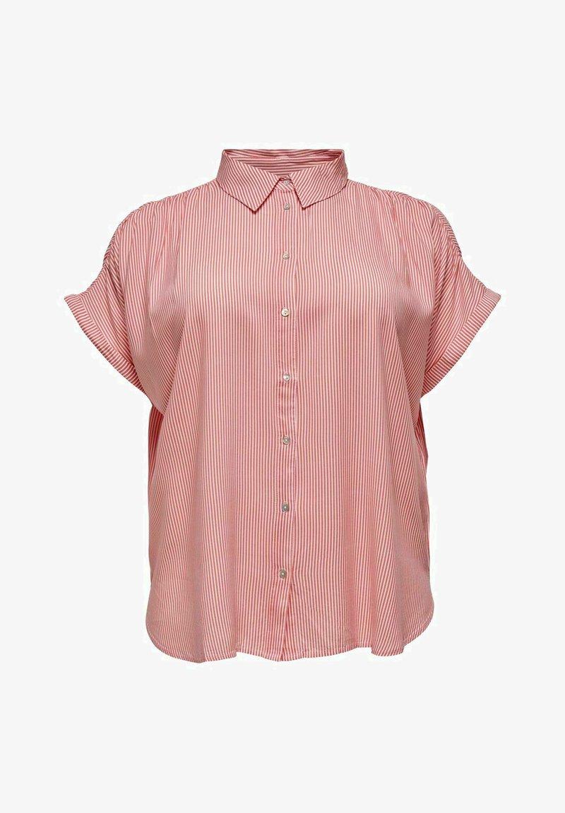 ONLY Carmakoma - CARMAROK LIFE - Button-down blouse - cloud dancer/tea rose