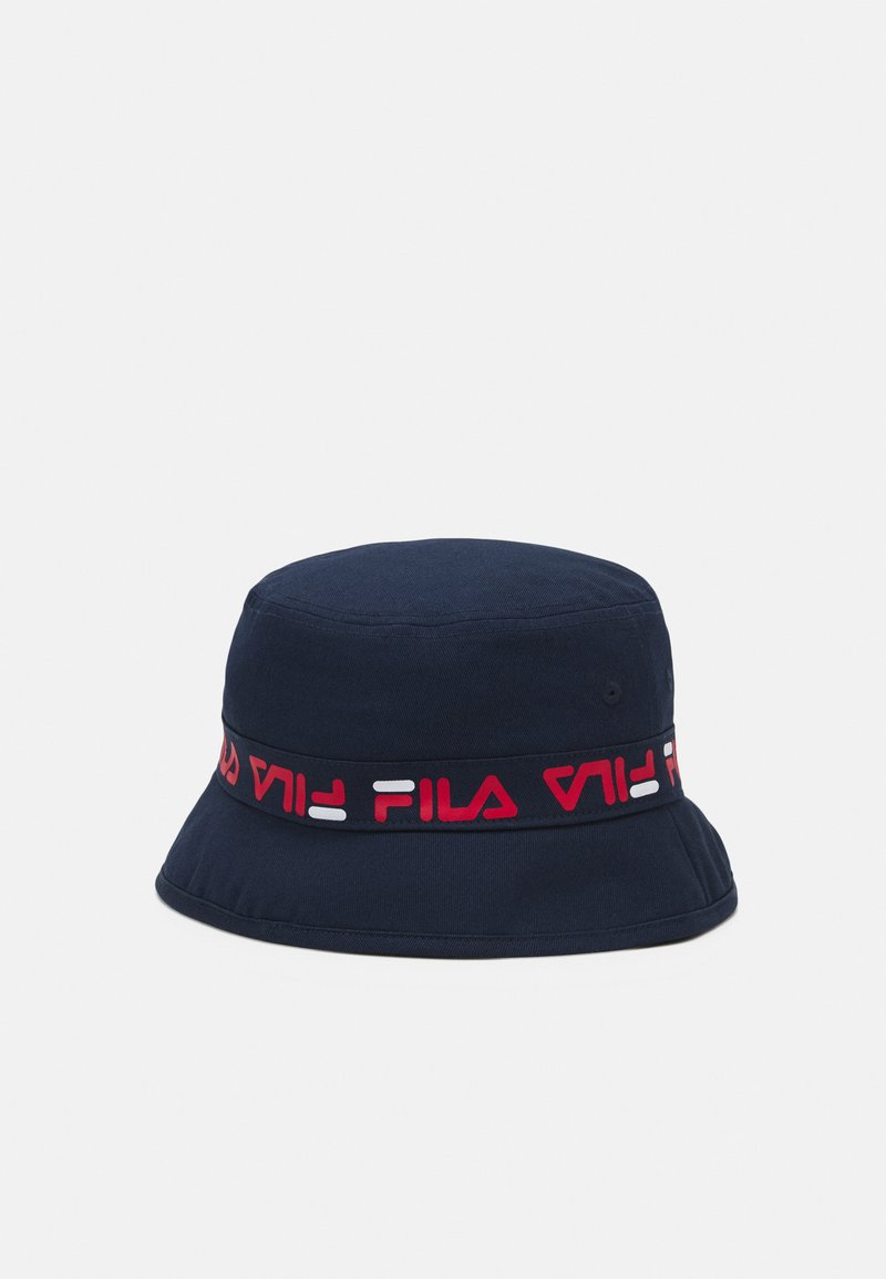 Fila - TAPED BUCKET HAT - Hat - black iris
