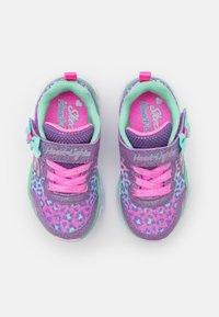 Skechers - HEART LIGHTS - Trainers - lavender/aqua/pink - 3
