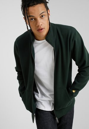 CHASE NECK - Zip-up hoodie - loden/gold