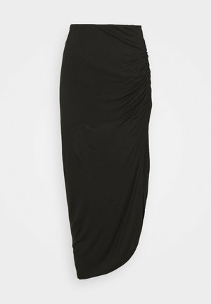 LUNA - Pencil skirt - black solid