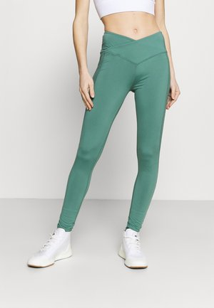 WAIST HIGH WAIST SHINE PANEL LEGGING - Medias - blue spruce