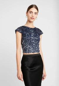 Lace & Beads - MERMAID - Bluse - navy/silver - 0