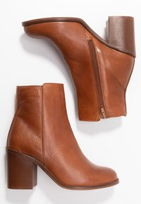 mint&berry - High heeled ankle boots - cognac - 3