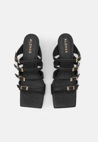 ALOHAS - PRICKLY - Pantofle na podpatku - black - 5