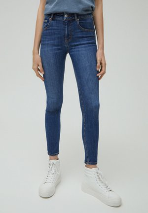 LOW WAIST - Jeans Skinny Fit - mottled blue