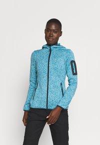 Campagnolo - WOMAN FIX HOOD JACKET - Fleece jacket - lake/bianco - 0