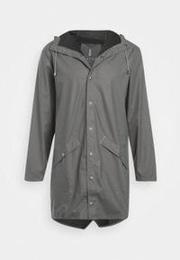 Rains - LONG JACKET UNISEX - Waterproof jacket - smoke - 0