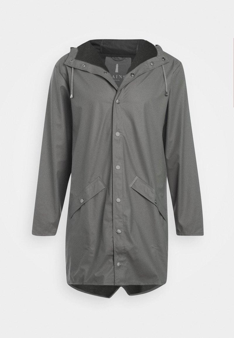 Rains - LONG JACKET UNISEX - Waterproof jacket - smoke