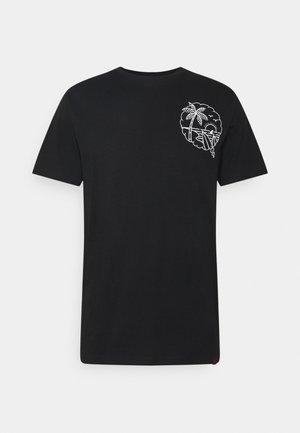 SUMMER TEE - T-shirt z nadrukiem - black