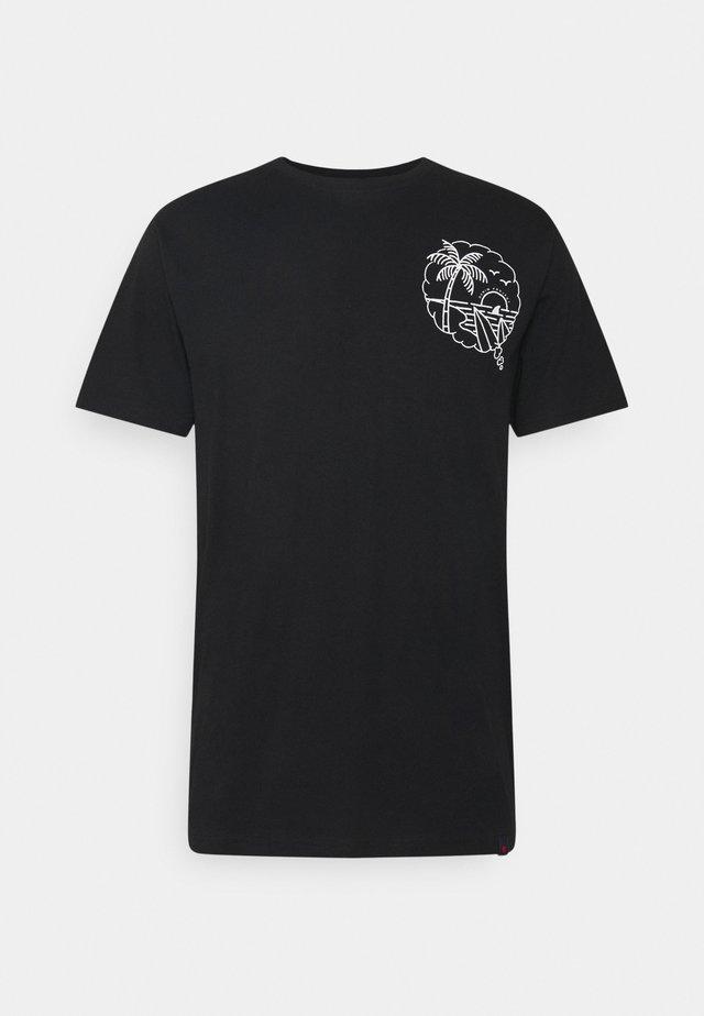 SUMMER TEE - Print T-shirt - black