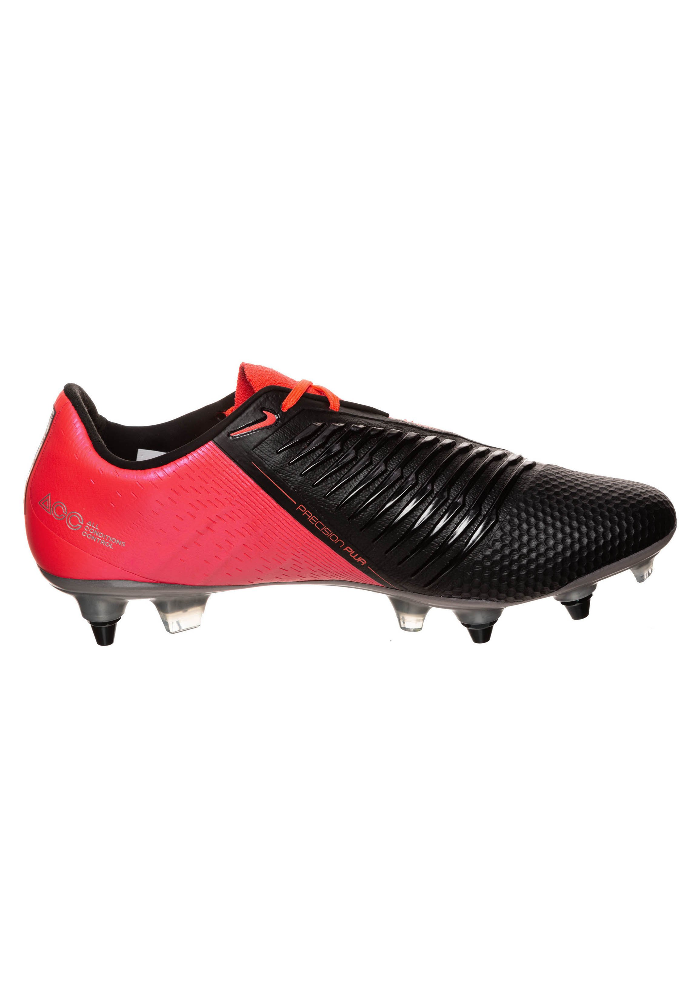 Nike Performance PHANTOM ELITE SG-PRO AC - Trainings-/Fitnessschuh - laser crimson / metallic silver / black/rot - Herrenschuhe ImkfO