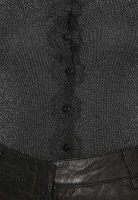 Rosemunde - CARDIGAN - Cardigan - black shine - 4